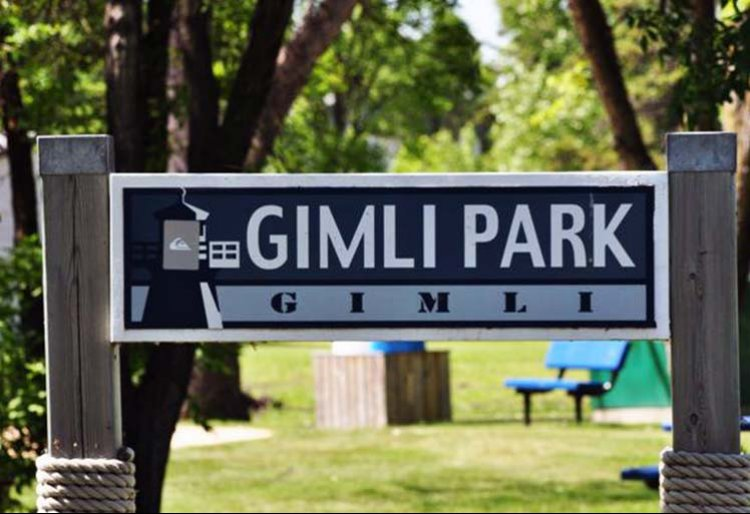 Gimli Park - Welcome Sign