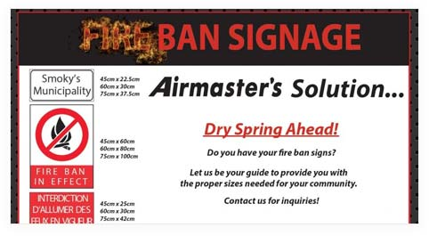 Fire ban signs